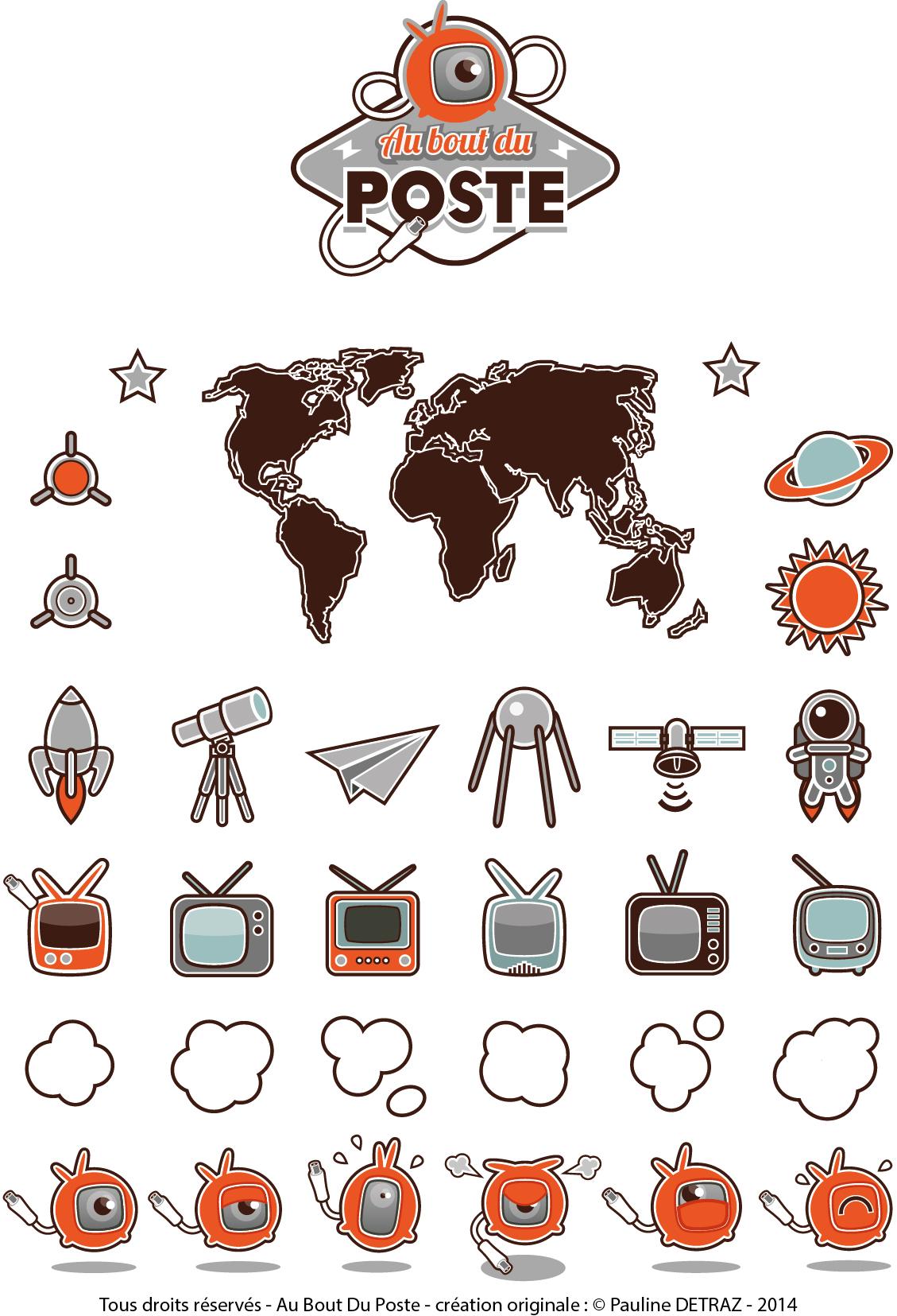 """Recherche pictogrammes pour la web série """"Au bout du poste"""" - 2014"""